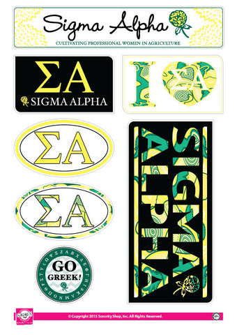 Sigma Alpha <br> Lifestyle Stickers