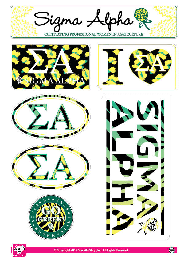 Sigma Alpha <br> Animal print Stickers