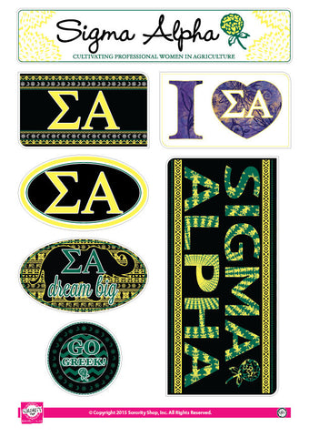 Sigma Alpha <br> Bohemian Stickers