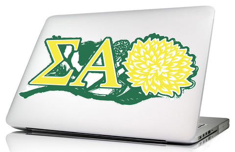 Sigma Alpha <br>11.75 x 5.25 Laptop Skin/Wall Decal