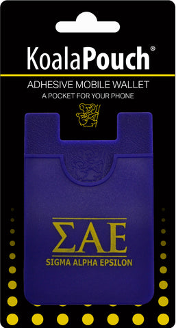 Sigma Alpha Epsilon <br> Koala Pouch<br>Adhesive wallet for your phone