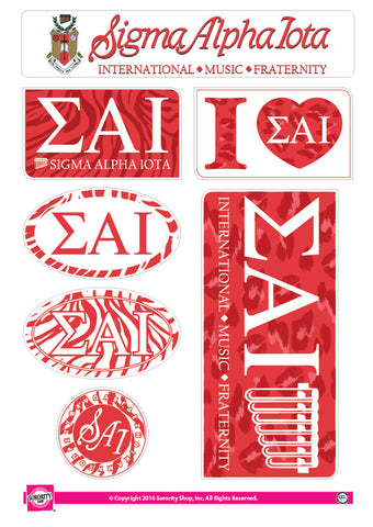 Sigma Alpha Iota <br> Animal Print Stickers