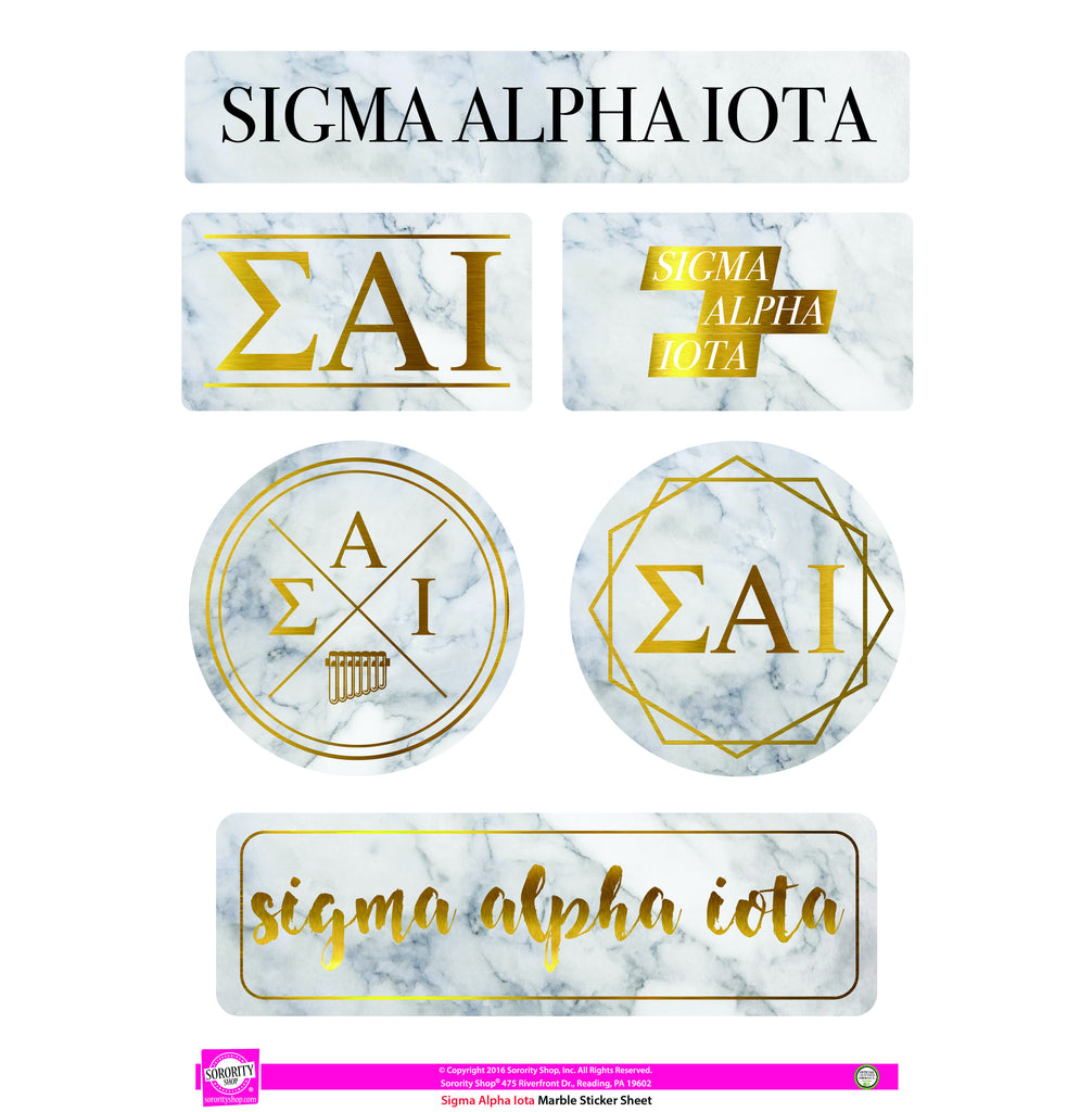 Sigma Alpha Iota <br> Marble Sticker Sheet