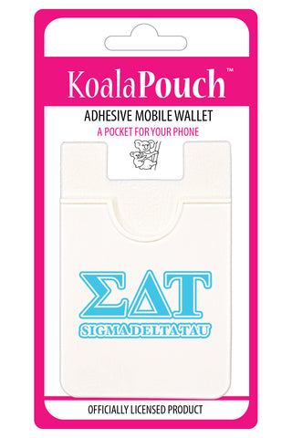 Sigma Delta Tau<br> Koala Pouch<br>Adhesive wallet for your phone