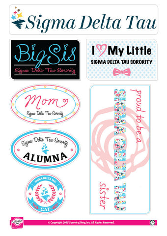 Sigma Delta Tau <br> Family Stickers