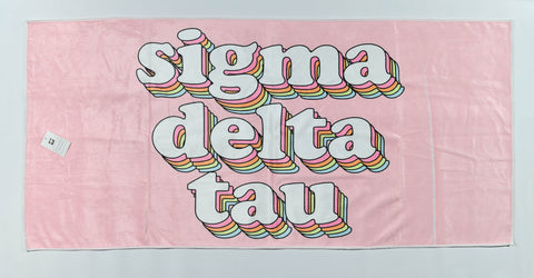 Sigma Delta Tau Plush Retro Beach Towel