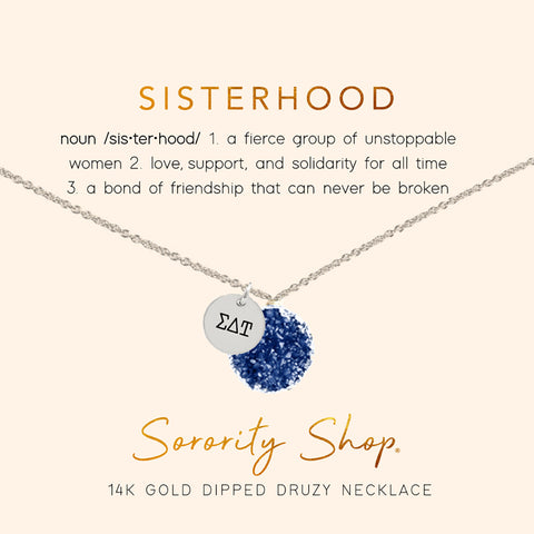 Sigma Delta Tau Sisterhood Druzy Necklace