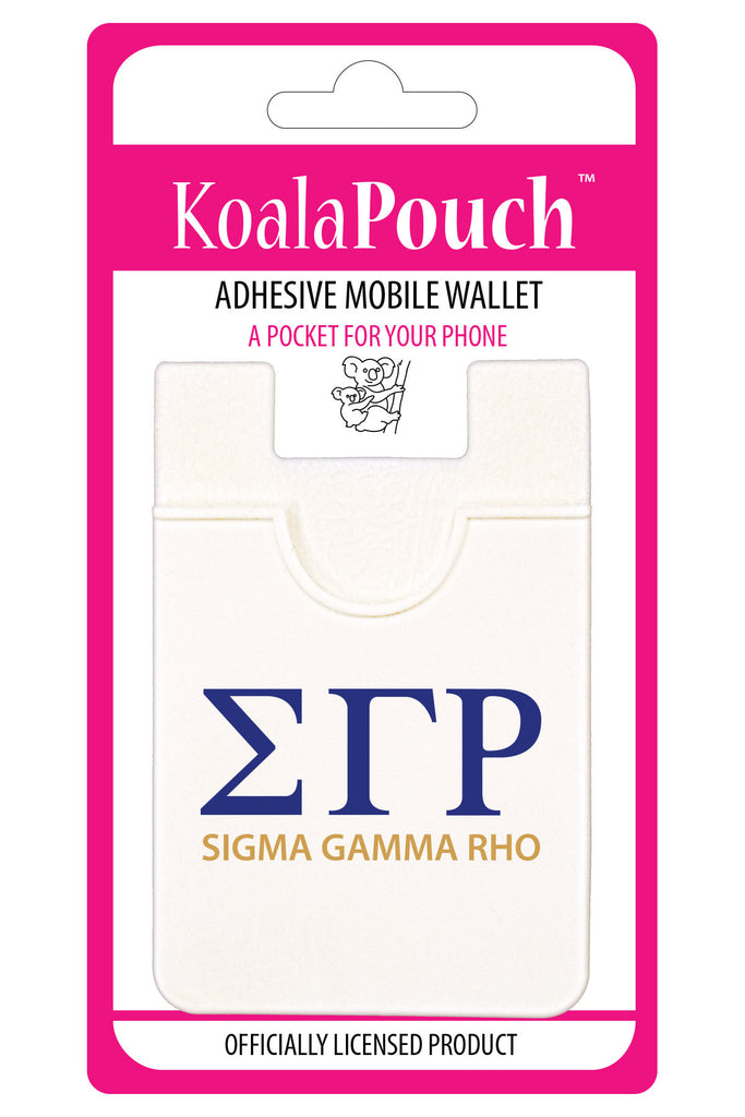 Sigma Gamma Rho <br> Koala Pouch<br>Adhesive wallet for your phone