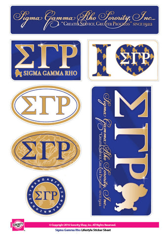 Sigma Gamma Rho <br> Lifestyle Stickers