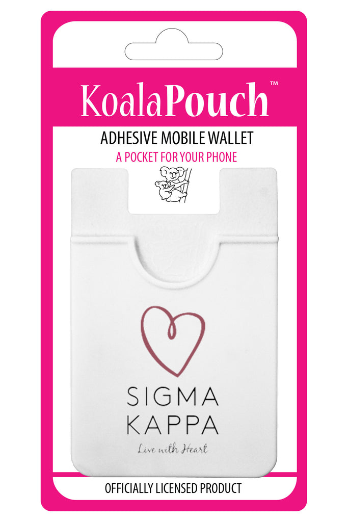 Sigma Kappa<br> Koala Pouch<br>Adhesive wallet for your phone