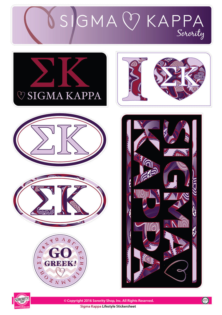 Sigma Kappa <br> Lifestyle Stickers