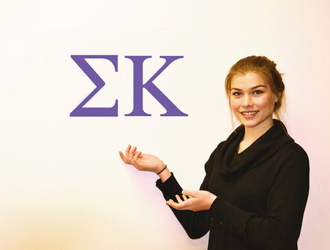 Sigma Kappa <br> Jumbo Letter Decals