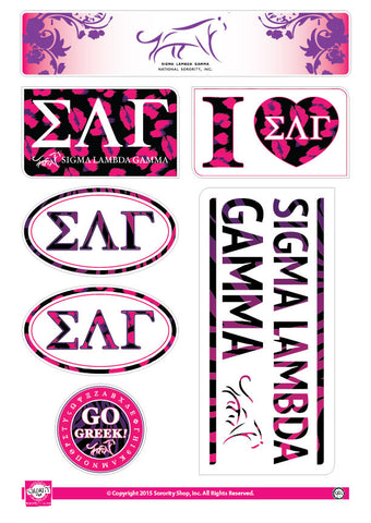 Sigma Lambda Gamma <br> Animal Print Stickers
