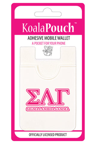 Sigma Lambda Gamma<br> Koala Pouch<br>Adhesive wallet for your phone