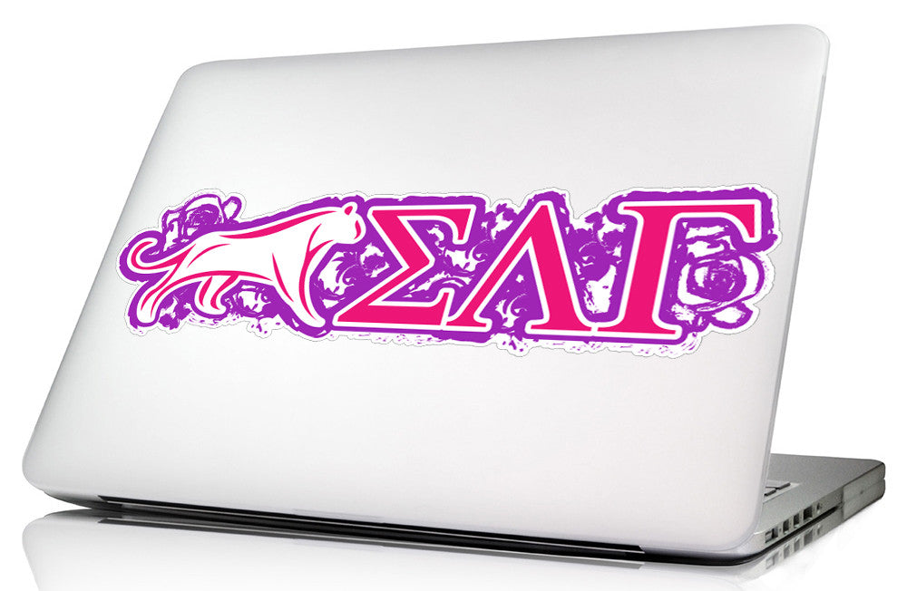 Sigma Lambda Gamma <br> 11.75 x 3.5 Laptop Skin/Wall Decal