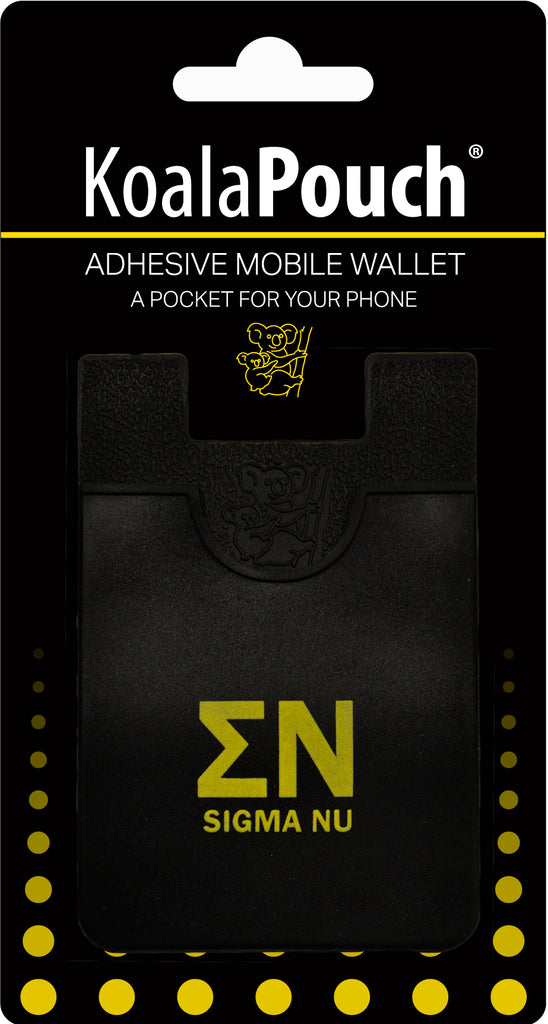 Sigma Nu <br> Koala Pouch<br>Adhesive wallet for your phone