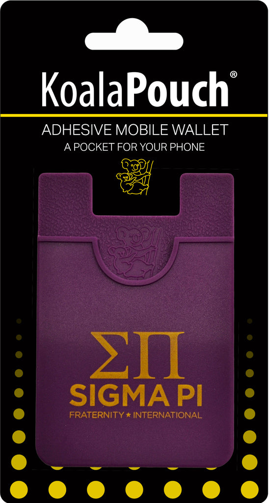 Sigma Pi <br> Koala Pouch<br>Adhesive wallet for your phone
