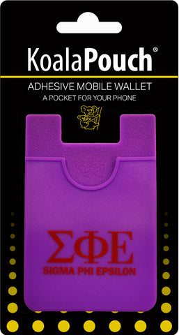 Sigma Phi Epsilon <br> Koala Pouch<br>Adhesive wallet for your phone