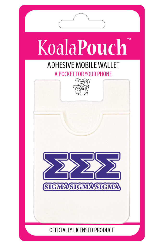 Sigma Sigma Sigma<br> Koala Pouch<br>Adhesive wallet for your phone