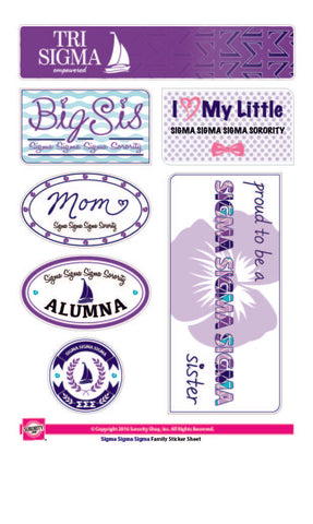 Sigma Sigma Sigma <br> Family Stickers