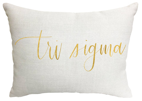 Sigma Sigma Sigma Throw Pillow