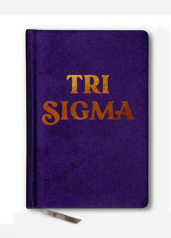 Tri Sigma Notebook with Gold Foil Imprint