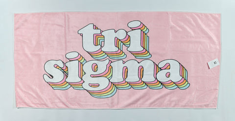 Sigma Sigma Sigma Plush Retro Beach Towel