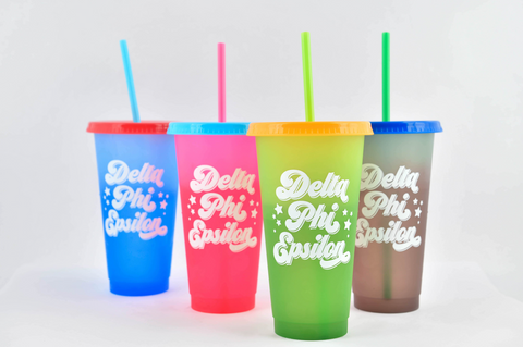 Delta Phi Epsilon Color Changing Cups (Set of 4)