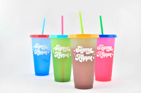 Sigma Kappa Color Changing Cups (Set of 4)