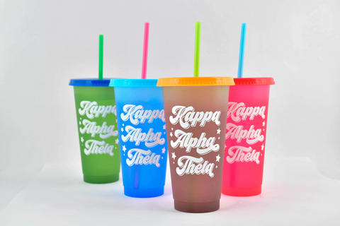 Kappa Alpha Theta Color Changing Cups (Set of 4)