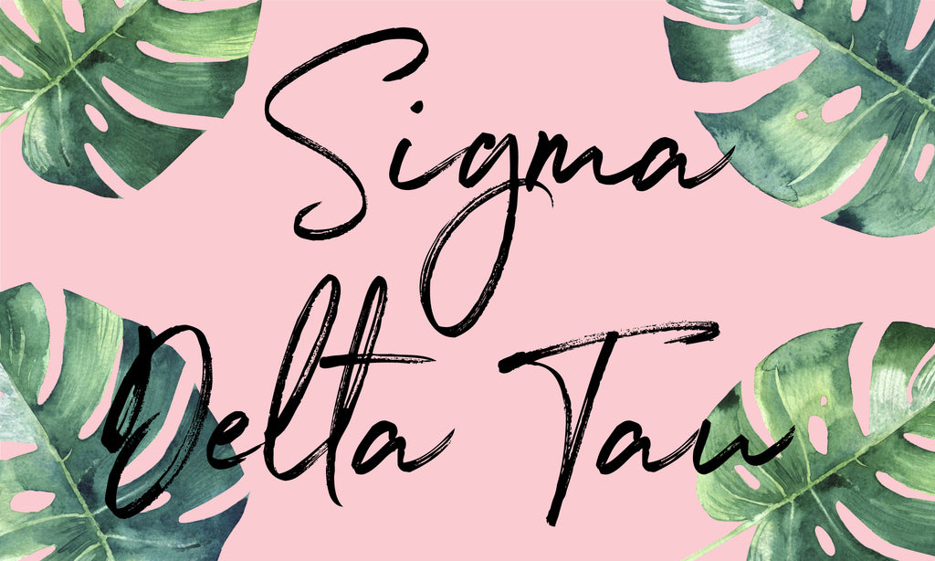 Sigma Delta Tau Sorority Flag