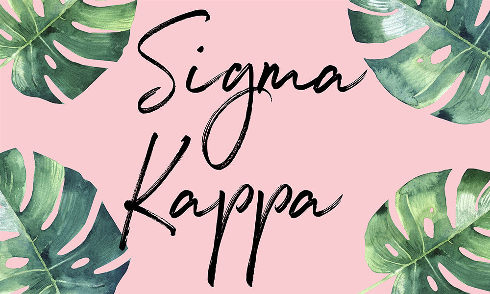 Sigma Kappa Tropical Flag