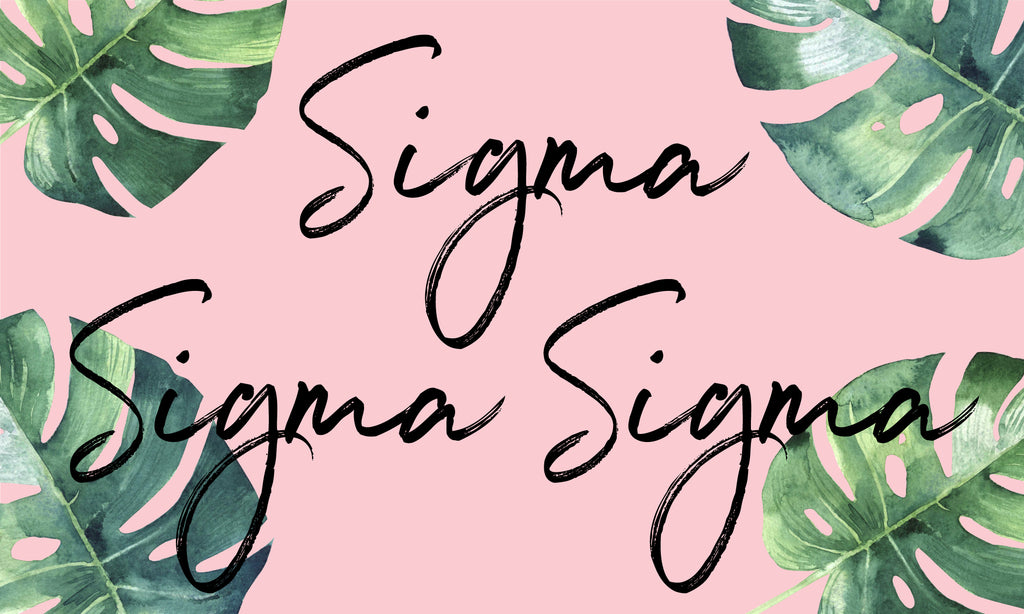 Sigma Sigma Sigma Sorority Flag
