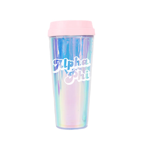 Alpha Phi Retro Style Sorority Tumbler