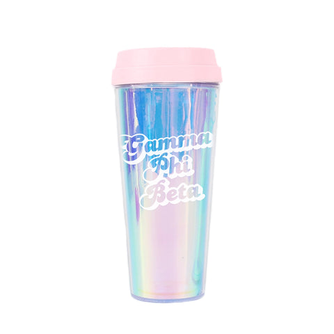 Gamma Phi Beta Retro Style Sorority Tumbler
