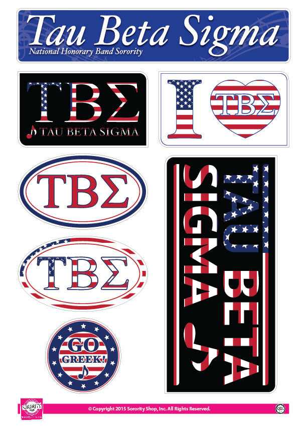 Tau Beta Sigma <br> American Stickers
