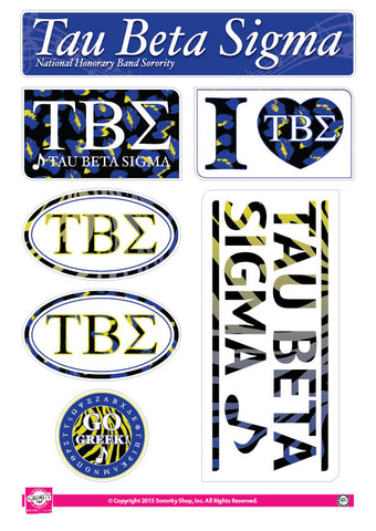 Tau Beta Sigma <br> Animal Print Stickers