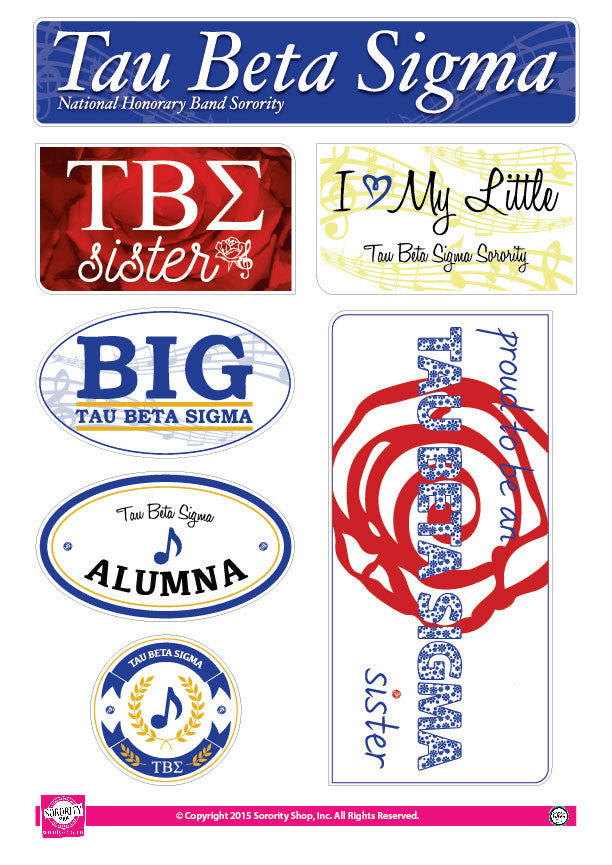 Tau Beta Sigma <br> Family Stickers