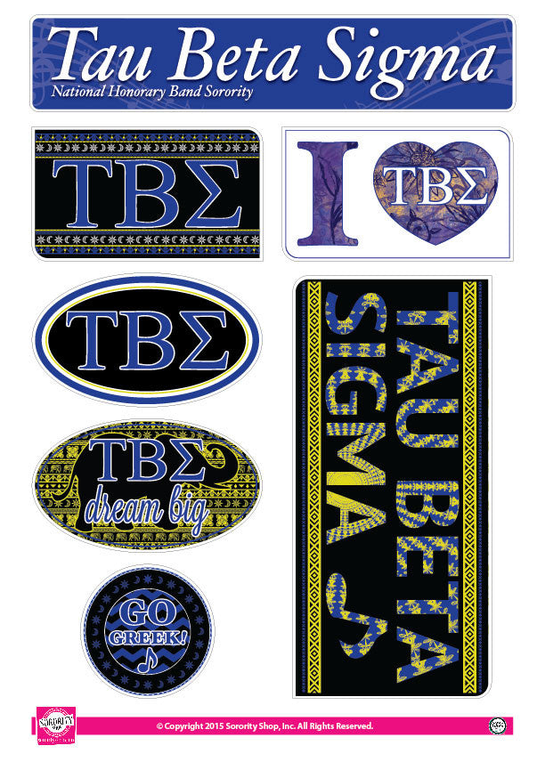 Tau Beta Sigma <br> Bohemian Stickers