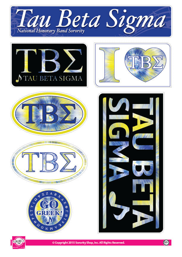 Tau Beta Sigma <br> Tie Dye Stickers