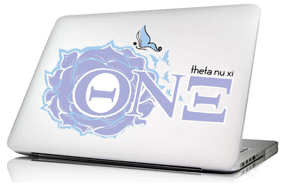 Theta Nu Xi <br>11.5 x 8.25 Laptop Skin/Wall Decal