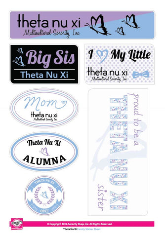 Theta Nu Xi <br>Family Stickers