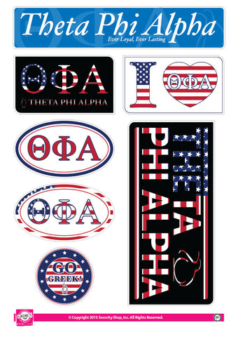Theta Phi Alpha <br> American Stickers