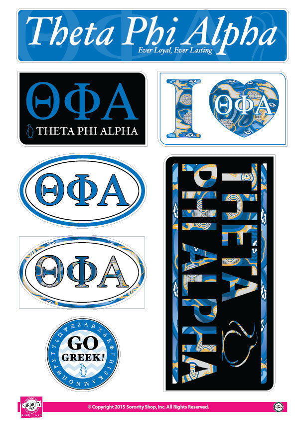 Theta Phi Alpha <br> Lifestyle Stickers