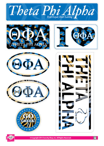 Theta Phi Alpha <br> Animal Print Stickers