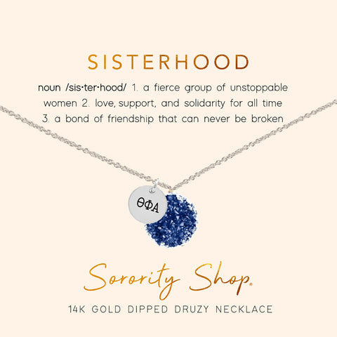 Theta Phi Alpha Sisterhood Druzy Necklace