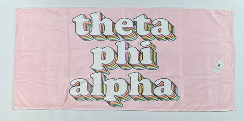 Theta Phi Alpha Plush Retro Beach Towel