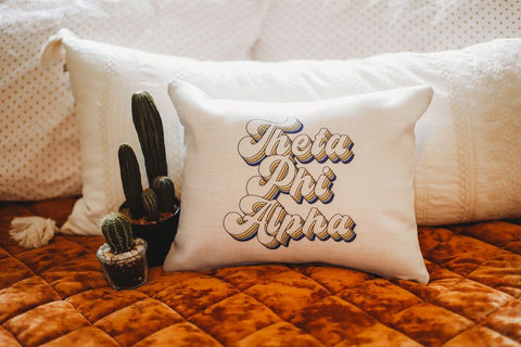 Theta Phi Alpha Retro Throw Pillow