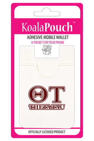 Theta Tau<br> Koala Pouch<br>Adhesive wallet for your phone