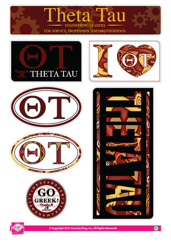 Theta Tau <br> Lifestyle Stickers